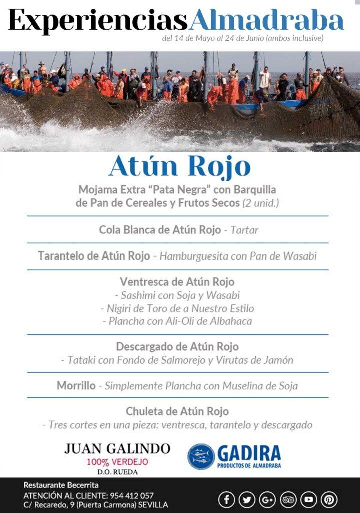 Experiencias de Almadraba 2018. El mejor Atún Rojo en Restaurante Becerrita Sevilla