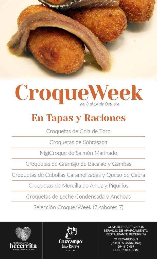 Semana de la Croqueta en Restaurante Becerrita, Sevilla. Croqueweek 2018