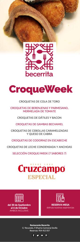 Semana de la Croqueta en Restaurante Becerrita, Sevilla 2019