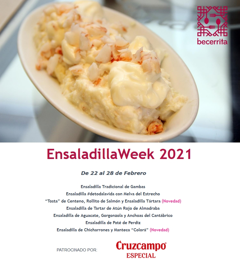 Semana de la Ensaladilla en Restaurante Becerrita. EnsaladillaWeek 2021